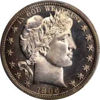 1906 Barber Half Dollar. Proof-67 Cameo (PCGS).