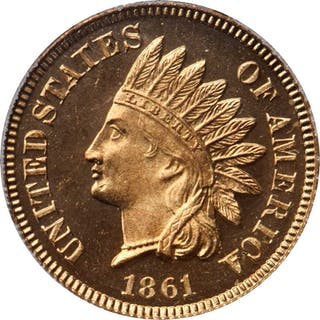 1861 Indian Cent. Snow-PR3. Proof-65 Cameo (PCGS). CAC. Eagle Eye Photo Seal.