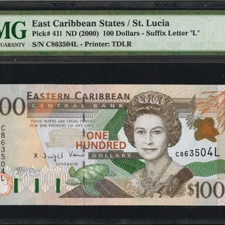 EAST CARIBBEAN STATES. Eastern Caribbean Central Bank. 100 Dollars