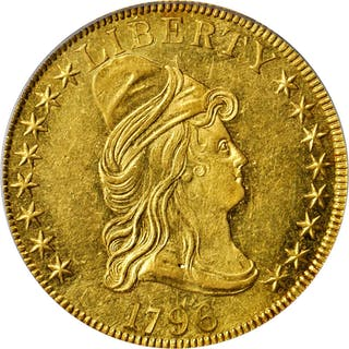1796 Capped Bust Right Eagle. BD-1, Taraszka-6, the only known dies.