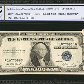 UNITED STATES. Federal Reserve Note & Silver Certificate. $1 & $20