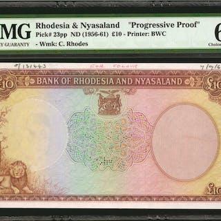 RHODESIA & NYASALAND. Bank of Rhodesia & Nyasaland. 10 Pounds, ND