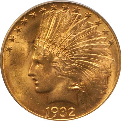 1932 Indian Eagle. MS-63 (PCGS). OGH.