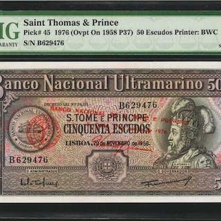 SAINT THOMAS & PRINCE. Banco Nacional Ultramarino. 50 & 100 Escudos