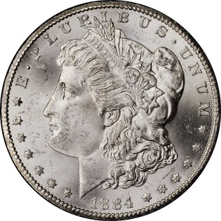 1884-CC GSA Morgan Silver Dollar. Mint State (Uncertified).