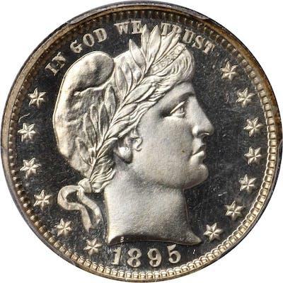 1895 Barber Quarter. Proof-68 Cameo (PCGS). CAC.