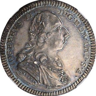 GERMANY. Regensburg. 1/2 Taler, 1782-GCB. Joseph II. NGC MS-63.