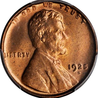 1925-D Lincoln Cent. MS-65 RD (PCGS). CAC.