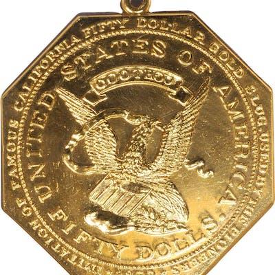 """1850"" (1950-1960) U.S. Assay Office of Gold / Target Reverse $50"