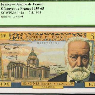 FRANCE. Banque de France. 5 Nouveaux Francs, 1959-65. P-141a. PCGS
