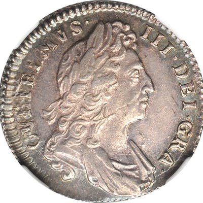 GREAT BRITAIN. Shilling, 1697. William III. NGC MS-63.
