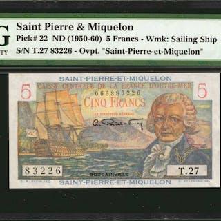 SAINT PIERRE & MIQUELON. Caisse Centrale de la France d'Outre-Mer.