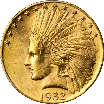 1932 Indian Eagle. MS-63 (PCGS).
