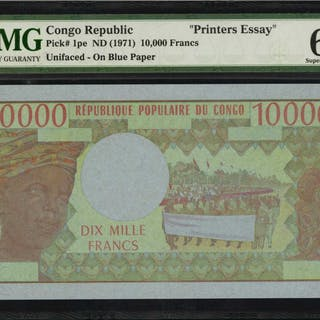 CONGO DEMOCRATIC REPUBLIC. Republique du Congo. 10,000 Francs, ND