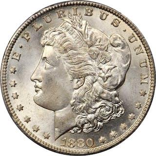 1880-CC Morgan Silver Dollar. VAM-7. 8/7. Reverse of 1878. MS-67 (PCGS).