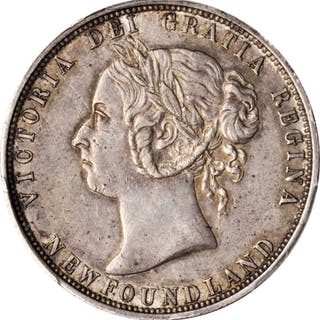 CANADA. Newfoundland. 50 Cents, 1882-H. Heaton Mint. PCGS AU-50 Gold Shield.
