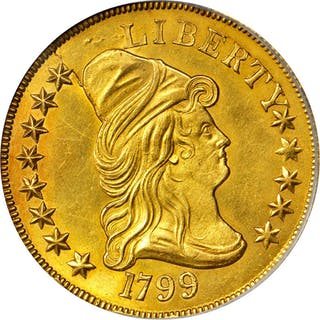 1799 Capped Bust Right Eagle. BD-6, Taraszka-18. Rarity-5. Small Obverse