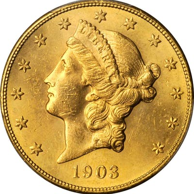 1903-S Liberty Head Double Eagle. Unc Details--Cleaned (PCGS).