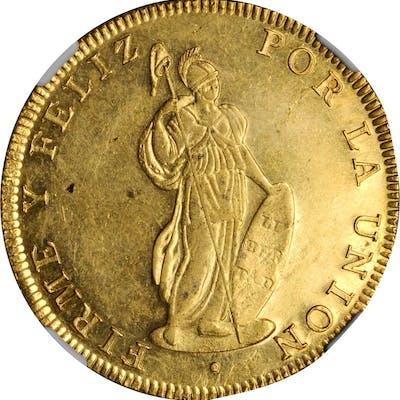 PERU. 8 Escudos, 1833-Bo Ar. Cuzco Mint. NGC MS-61.
