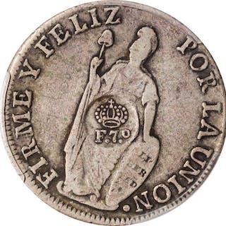 PHILIPPINES. 8 Reales, ND (1832-34). Ferdinand VII. PCGS FINE-15 Gold