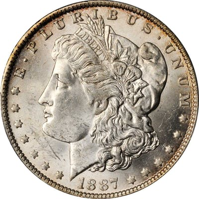 1887/6-O Morgan Silver Dollar. VAM-3. Top 100 Variety. MS-63 (PCGS).