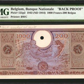 BELGIUM. Banque Nationale de Belgique. 1000 Francs, 1943 (ND 1944).