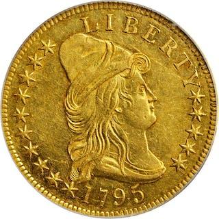 1795 Capped Bust Right Eagle. BD-1, Taraszka-1. Rarity-3+. 13 Leaves.