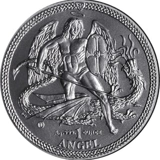 ISLE OF MAN. Silver Angels (3 Pieces), 2014-16.