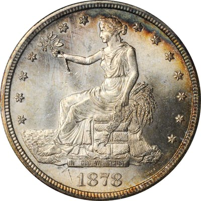 1878-S Trade Dollar. MS-64 (NGC). OH.