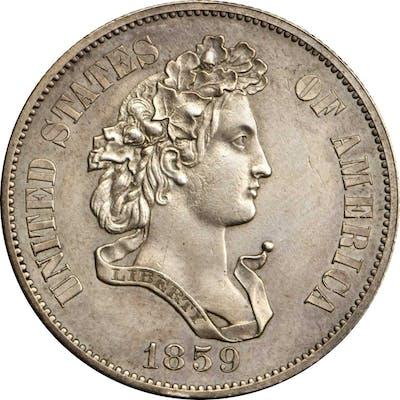 1859 Pattern Half Dollar. Judd-239, Pollock-295. Rarity-4. Silver.