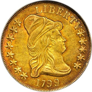 1799 Capped Bust Right Eagle. BD-10, Taraszka-22. Rarity-3. Large