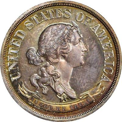 1870 Pattern Half Dollar. Judd-988, Pollock-1117. Rarity-7+. Silver.