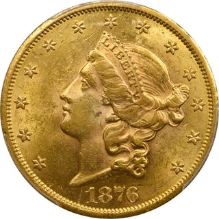 1876-CC Liberty Head Double Eagle. MS-61 (PCGS).
