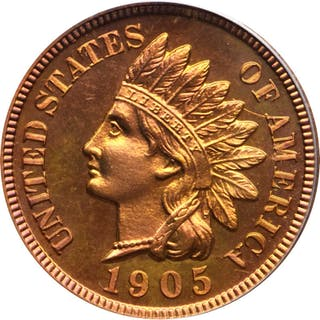 1905 Indian Cent. Snow-PR1, the only known dies. Proof-66 RD Cameo (PCGS).
