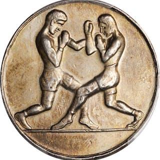 PALESTINE. Arab Sport Union Silver Medal, ND (ca. 1960). PCGS Genuine--Rim