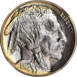 1913 Buffalo Nickel. Type I. Proof-68 (NGC).