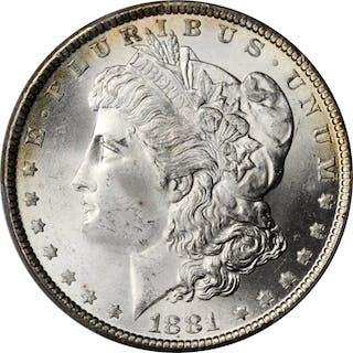 1881 Morgan Silver Dollar. MS-66 (PCGS).