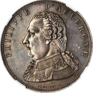 BELGIUM. Silver Fantasy 5 Francs Pattern, 1815-A. NGC MS-63.