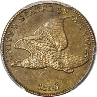 1856 Flying Eagle Cent. Snow-9. Proof-63 (PCGS). CAC.