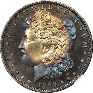 1893 Morgan Silver Dollar. Proof-67 (NGC).