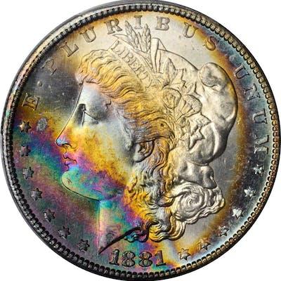 1881-S Morgan Silver Dollar. MS-67+ (PCGS). CAC.