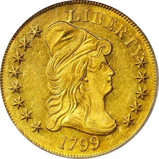 1799 Capped Bust Right Eagle. BD-8, Taraszka-20. Rarity-5. Small Obverse