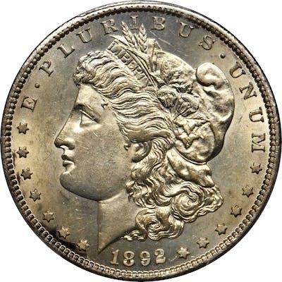 1892-S Morgan Silver Dollar. AU-58 (PCGS).