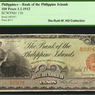 PHILIPPINES. Bank of the Philippine Islands. 100 Pesos, 1912. P-11b.