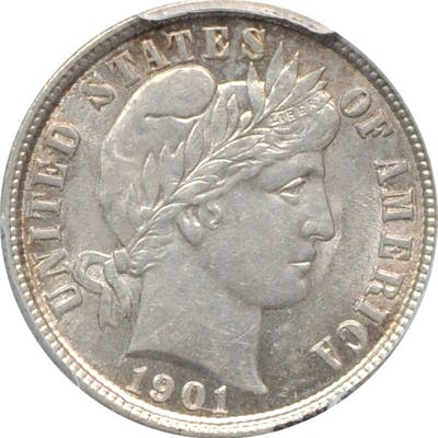 Lot of (2) Choice About Uncirculated Barber Dimes. (PCGS).