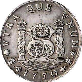 BOLIVIA. 8 Reales, 1770-PTS JR. Potosi Mint. Charles III. PCGS EF-45