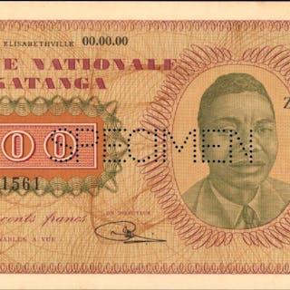 KATANGA. Banque Nationale du Katanga. 500 Francs, ND (1960). P-9s.