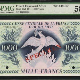 FRENCH EQUATORIAL AFRICA. Caisse Centrale de la France d'Outre-Mer.