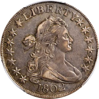 1802 Draped Bust Half Dollar. O-101, T-1. Rarity-3. AU-53 (PCGS).