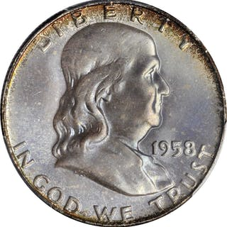 1958-D Franklin Half Dollar. MS-67 (PCGS). CAC.